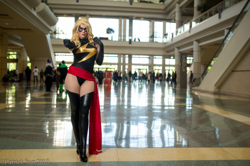 Ms Marvel @ MegaCon 2013Photos By: Patrick SunTop Question: 'how did you make your boots?':The boots are sock pieces made out of a leather look spandex and sewn into dance tights.  That way I can just slip on a pair of black heels and have to look of seamless black thigh high boots!  Super simple AND super comfortable :)