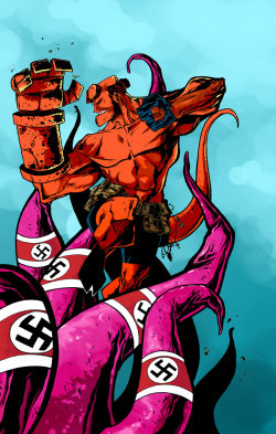 infinity-comics:  Nazi Tentacles | Jorge Corona (Colours by lilithim)