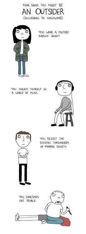 bitchville:  4 signs that you might be an outsider by http://poorlydrawnlines.com