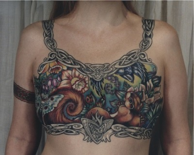 runenweib:   Post-mastectomy tattoos by Tina Bafaro. Photos by Bafaro.   Absolutely beautiful.