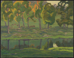 River Pastures, Gull River, 1922J.E.H. MacDonald Canadian, 1873 - 1932Oil on canvasOverall: 71.6 x 91.3 cmBequest of Charles S. Band, Toronto, 1970© 2013 Art Gallery of Ontario