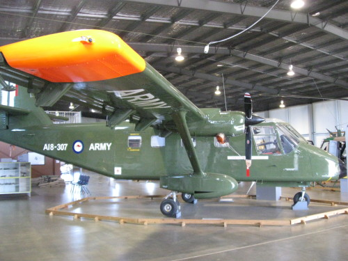 Museum of Australian Army Flying…Static Display Aircraft No.1: A GAF Nomad N.22, used by the Australian Army Aviation Corps as a small STOL transport.