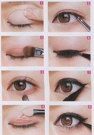 simple eye make up tutorial ^^