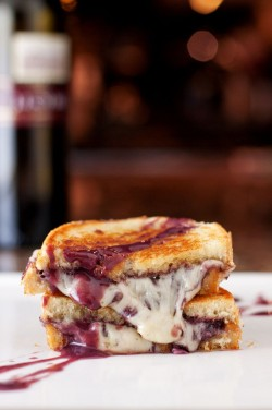 gastrogirl:  wine and cheese grilled cheese.