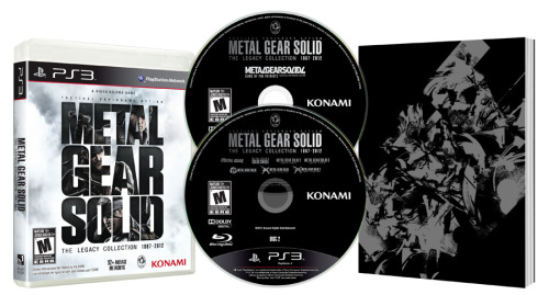 Metal Gear Solid: The Legacy Collection Hits PS3 July 9th Metal Gear Solid: The Legacy Collection contains every canon Metal Gear release to grace PlayStation platforms from 1998′s Metal Gear Solid to 2008′s Metal Gear Solid 4: Guns of the Patriots to 2011′s Metal Gear Solid HD Collection* — all for $49.99. Perfect for newcomers or collectors looking for rare titles like Metal Gear Solid: VR Missions or the Metal Gear Solid digital graphic novels, this is the most massive Metal Gear release ever created with something for every infiltration expert to enjoy. All of this is included in a lovely new package that includes a 100-page art book containing rare marketing art from around the globe!