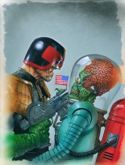 xombiedirge:  Mars Attacks Judge Dredd Variant by Greg Staples