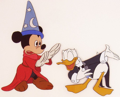 Ruby Lane Mickey Mouse & Donald Duck - Disney Production Animation Cel (by kfrishman)