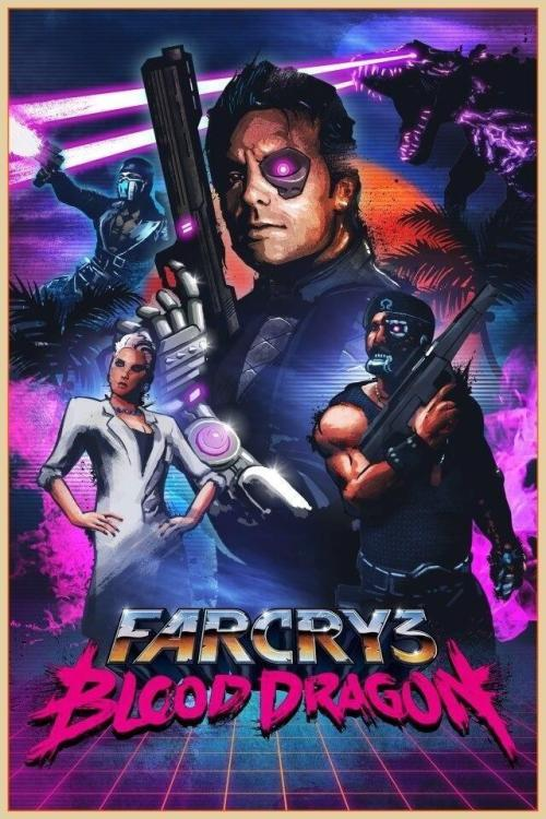 xombiedirge:  Far Cry 3: Blood Dragon by James White / Tumblr / Store