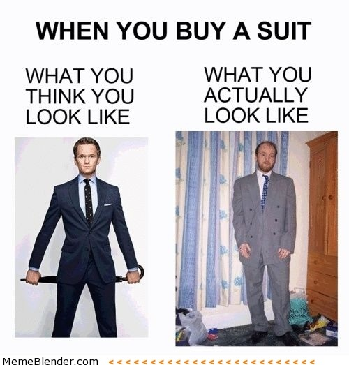 Buying a suit expectations