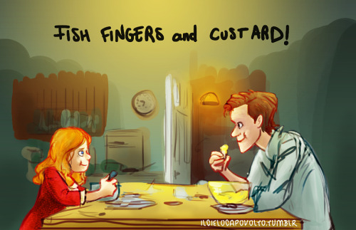ilcielocapovolto:  Fish fingers and custard! by *ilcielocapovolto
