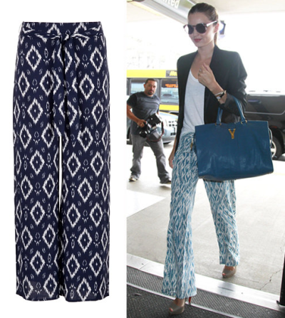 A pair of flowy printed pants is the ultimate in casual-cool, as demonstrated by supermodel Miranda Kerr. Get the look with this pair at Maurices!