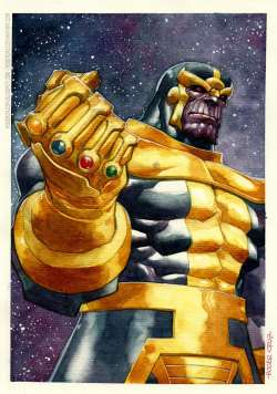 westcoastavengers:  Thanos by Roger Cruz