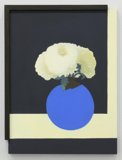Laeh Glenn, Untitled (Flowers), 2012 Oil on panel, wood 16 3/4 x 12 1/2 in. I love how the borders within the painting work with the borders ending of the frame in this painting. It questions ( or perhaps rather answers) whether or not a frame needs to enclose an entire frame to 'frame' it.