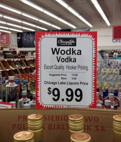 Wodka Vodka Has Quality Prices With the money you'll save you can buy some Dignity: It's a new Polish vodka.