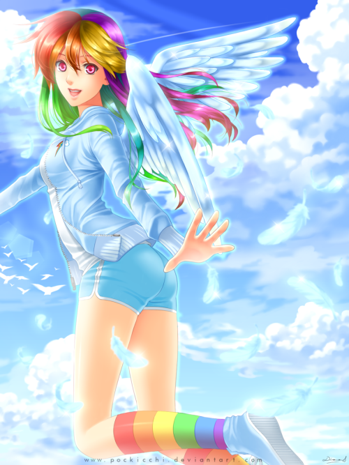 blackbronyman:  Rainbow Dash by =Pockicchi