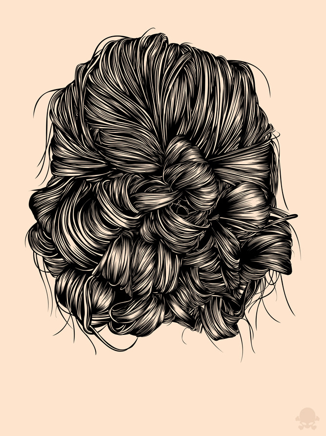 gaksdesigns:  So, remember that 'Hair study' project i started a while back in Illustrator? Well it's finally finished. Check out the full project HERE. :) WEBSITE  /  STORE  /  FACEBOOK  /   TWITTER  /   INSTAGRAM