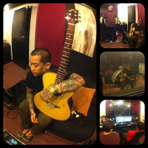 Day 28 of Recording: Acoustic tracks. @urbandub @towerofdoom @JBMusicPh (at Tower Of Doom)