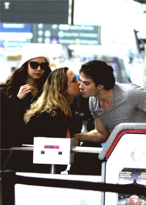 Nina x Ian + Mama Dobrev - Departing flight at Pearson International Airport