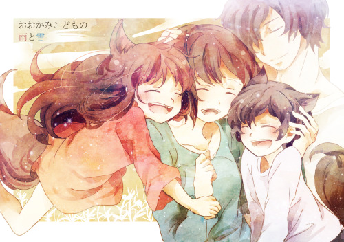 umbremon:  Okami Kodomo no Ame to Yuki Just watched this movie yesterday… cant tell if im happy or sad. so many feels TT_TT