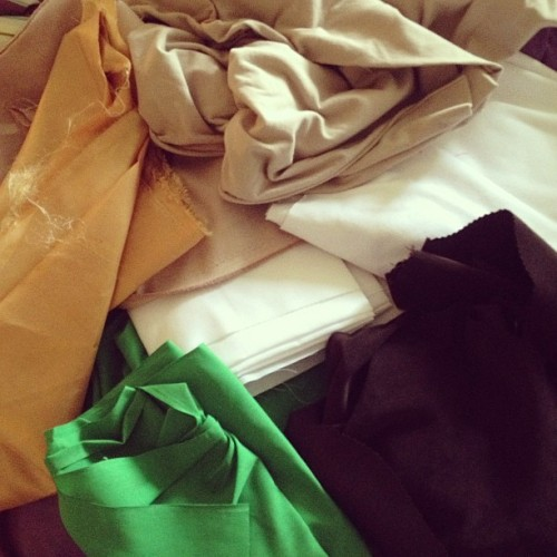 All of my fabric for #Leafa! #SAO #cosplay #wip