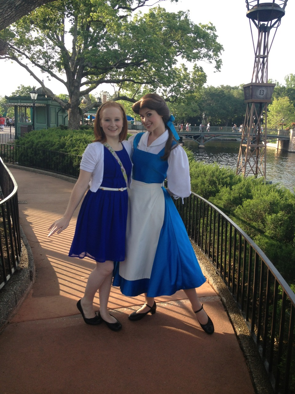 goingthedistancedcp:  Disneybounding today! Belle noticed and she loved it!
