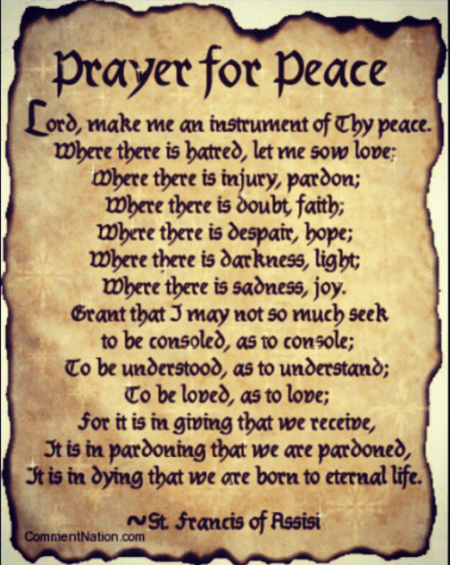 Prayer for peace…