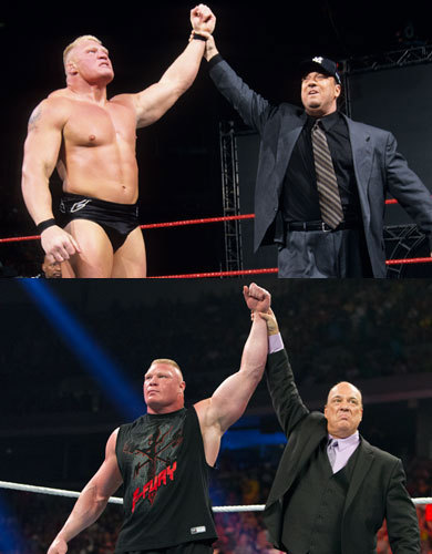 SUPERSTAR OF THE MONTH All men are not created equal. And ever since Brock Lesnar bulldozed his way to the ring back in 2002, his sheer intensity, superhuman strength and desire to destroy has put him in a pack of his own. This month, we honor the hulking Superstar as we take you from the then, to now, and all of his very large stepping stones in between.