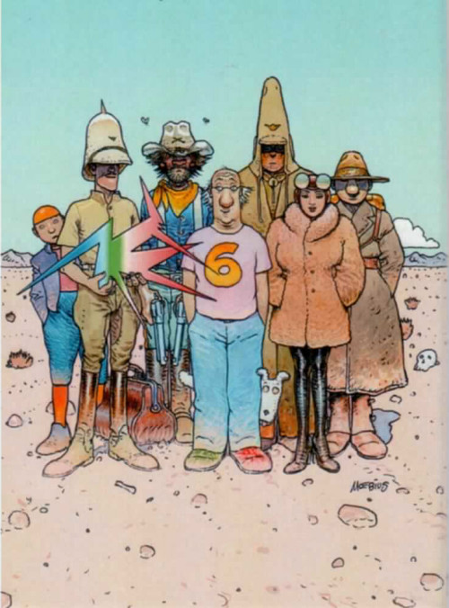 Inside Moebius, tome 6 (2009) Jean Giraud drawn by Jean Giraud, plus some of his creations.