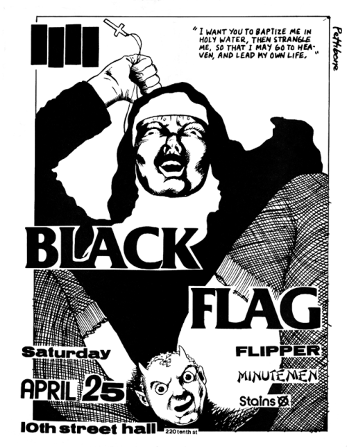 leahvonfrankenstein:  black flag gig flyer