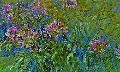 ahwahreh:   Agapanthus Flowers (1914-1917) Claude Monet  look at that detail oh my god