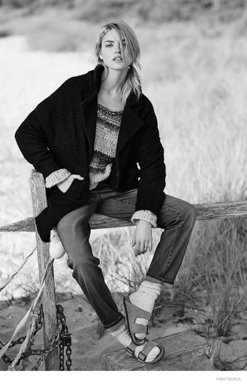 Martha Hunt in Relaxed Style for Free People Lookbook