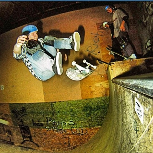 Half cab heel flip Fakie . 1993 Richmond skate ranch @jodymorrisphoto #rds #reddragons #ellisfam #skateboarding