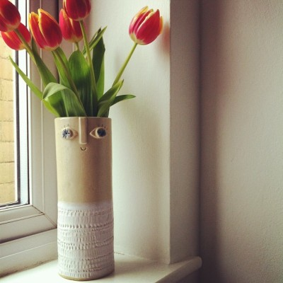 bohemianhomes:  Wormy, my new vase :)