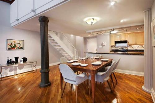 Chelsea NYC Duplex Loft… original Castiron columns, approx 2000 sq feet, 3 bed 3 bath.. How can you possibly go wrong?