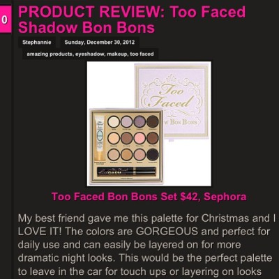 Product review! TOO FACED Shadows Bon Bons Set 👉 mybeautyinspirations.blogspot.com #toofaced #makeup #makeupaddict #eyeshadow #sephora #ootd #ootn #pretty