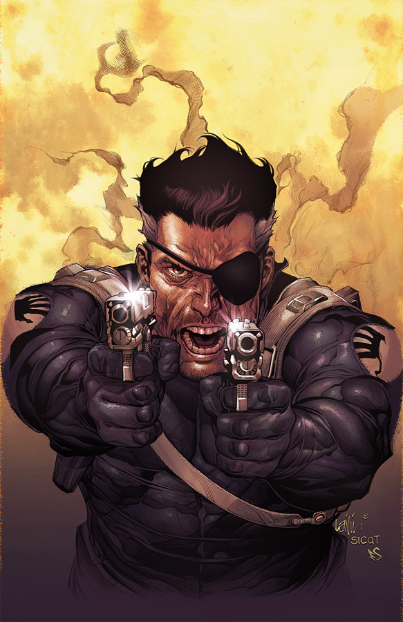 westcoastavengers:  Nick Fury by Leinil Francis Yu and Eddy Swan