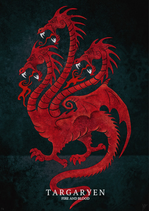 gameofthrones:  My version of Targaryen sigil, full set is here.  Breath fire!!!