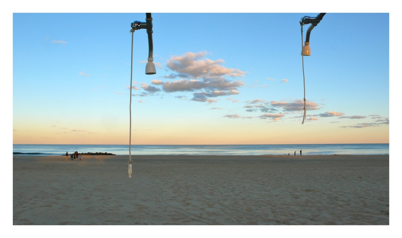 The showers that are no longer there, the beach in Ocean Grove, NJ. From the collections series.