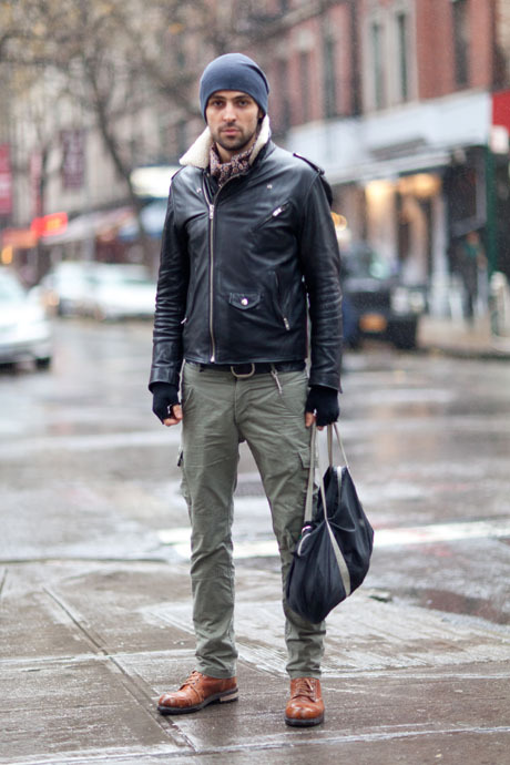details:  Street Style: Shearling, Leather, and Silk