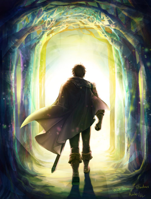 "mizstorge:  Amber : Walk among shadows by ~Mushstone  ""Occasionally, there arises a writing situation where you see an alternative to what you are doing, a mad, wild gamble of a way for handling something, which may leave you looking stupid, ridiculous or brilliant -you just don't know which. You can play it safe there, too, and proceed along the route you'd mapped out for yourself. Or you can trust your personal demon who delivered that crazy idea in the first place. ""Trust your demon.""  ― Roger Zelazny"