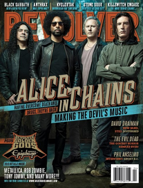 Alice in Chains on the cover of the new issue of Revolver