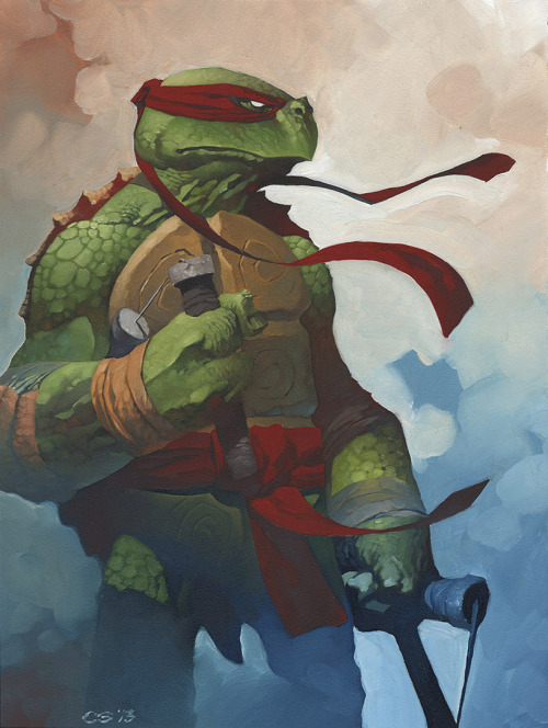 art-shannonigans:  Ninja Turtle by *ChristopherStevens