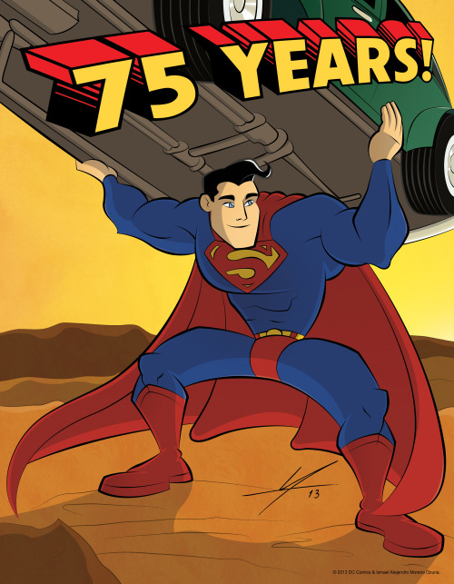 """Superman - 75th Anniversary"" by IAMO deviantART 