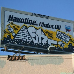 ASK Billboard - Oakland, CA - #askGraffiti #anitCapitalistGraffiti #capitalismMakesMeThrowup