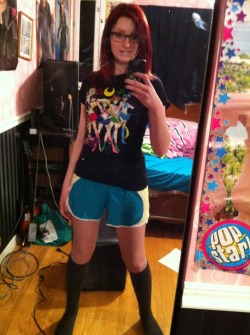MOON POWER WORKOUT GEAR. How cool am I?  P.s. that is not my room.