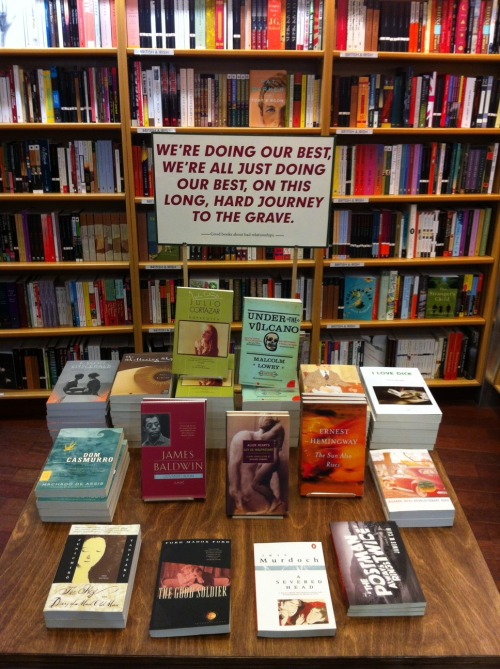 mcnallyjackson:  Check out our new display, Good books about bad relationships. Because sometimes the new year is for improving yourself, and other times it's for reminding yourself that you're human and you're doing the best you can.