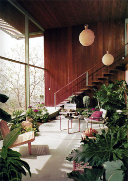 rosettes:  1954 Knauer House | Architect: Rodney Walker | Los Angeles, CA | Photos: Julius Shulman Via