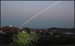 laughingsquid:  Composite Photo of the Year's First Partial Lunar Eclipse in Hungary