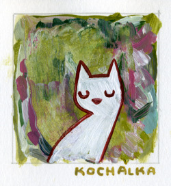kochalka:  Every once in a while I paint a new painting that rather startles me.  This was one of them… New paintings each day over at Little Paintings.  Elfless but still awesome!