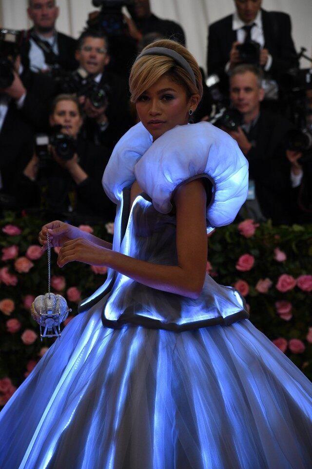 #met gala#zendaya#cinderella dress#dress